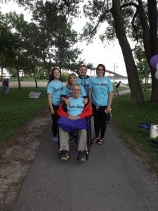 Family posing together at the WALK for ALS