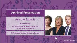 Drs David Taylor, Angela Genge and Christine Vande Velde
